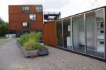 Containerdorf in der Eichbuschallee 51: modular wie Plattenbau, aber hochflexibel, Juli 2014