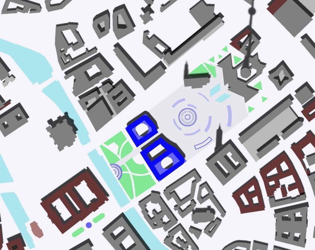Rathausforum-Entwurf von Achim und Andreas Linde, 2014