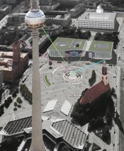 Rathausforum-Entwurf Achim und Andreas Linde