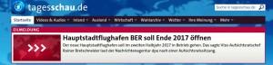 Screenshot Tagesschau.de vom 12.12.2014 - Da hat einer nicht umsonst gedrückt. (Danke David)