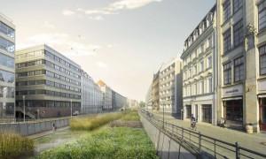Projekt Flussbad Berlin: renaturierter Spreekanal für ein sauberes Schwimmbecken direkt am Lustgarten (Bild: Flussbad Berlin e.V., realities:united)