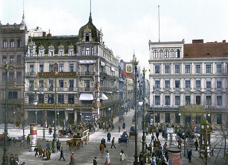 Café Bauer Unter den linden in Berlin Ende des 19. Jahrhunderts:  (Foto: wikipedia, gemeinfrei, Autor unbekannt, Library of Congress United States)