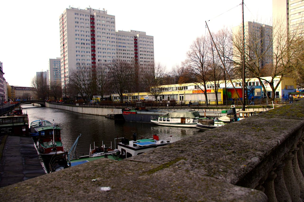 Blick auf die Fischerinsel von der Inselbrücke (Foto: André Franke, März 2015)
