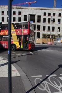 Realität Frühling 2015: Baustelle, Busverkehr, Stop and Go (Foto: André Franke)