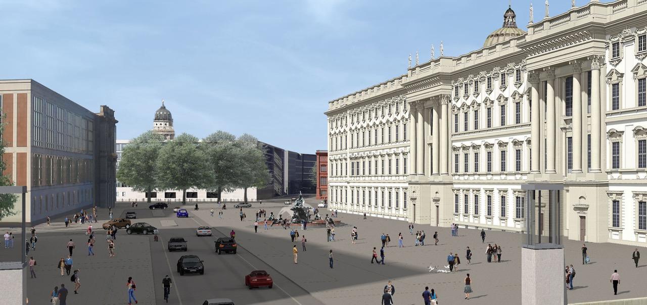 Neptunbrunnen auf dem Schlossplatz statt auf dem Rathausforum