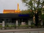 Schnell gebaut, aber nicht schön gebaut. Die temporäre Innovation-Halle vor der Bötzow-Bauerei an der Prenzlauer Allee (Foto: André Franke)