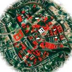 "Themenkarte ""Verlorene Mitte"", Christina Kautz, Harald Bodenschatz, Lutz Mauersberger, 2014"