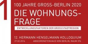 Einladung der Hermann-Henselmann-Stiftung, 12. Kolloquium, 2016