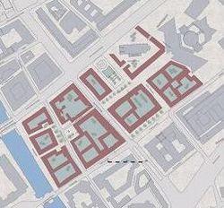Bebauung in Anlehnung an den historischen Grundriss (GHB)