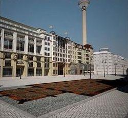 Blick auf den Rathausplatz, Ort der Demokratie (GHB)