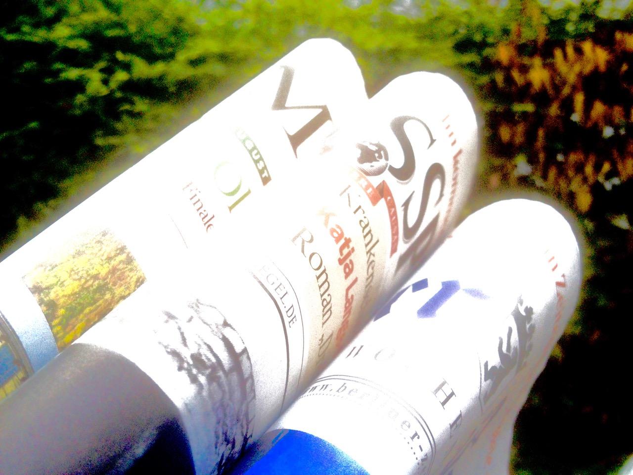 Tägliche Dosis Pressepack - und der Stoff, aus dem der NEWS RIDE ist