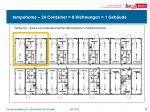 """Eine Wohnung (gelb) in einem """"Gebäude"""". Äußere Erschließung (Quelle: LAF)"""