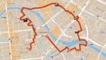 Route des Stadtkern-Walk vom 25. Januar 2017 mit ein paar spannenden Stationen (siehe auch die Map unten)